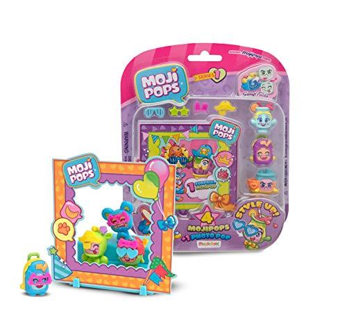 MOJIPOPS - Photo Pop con 4 figuras MojiPops, variedad de accesorios y escenario , color/modelo surtido
