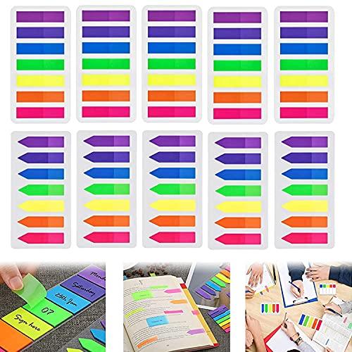 1400 Blätter Haftnotizen Tabs, Index Flaggen Tabs, Etiketten Seite Marker, Klebezettel Page, Page Marker für Schule Büro Notizen Schreiben Lernen Seitenmarkierung(7 Farben)