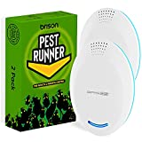 BRISON Ultrasonic Pest Repeller - Rodent Repellent Indoor Ultrasonic Control – Repellent for Mice Rat Bug Spider Roach Squirrel [2-Pack]