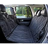 """Black & Hammock Convertible: 54"""" x 58"""": Designed for the backseats of Standard Cars, Trucks, & SUVs. Easily convertible between hammock or standard bench coverage. Bench section of the seat cover is designed with 7"""" SIDE-FLAPS extensions for extra co..."""