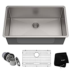KHU100-32 - Kraus Standart PRO 32-inch 16 Gauge Undermount Single Bowl Stainless Steel Kitchen Sink