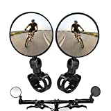 Best Bike Mirrors - 2PCS Bike Mirrors,Adjustable Rotatable Handlebar Mounted Plastic Convex Review