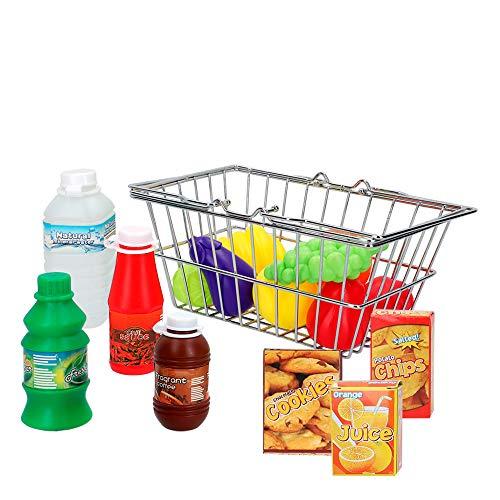 Colorbaby Cesta de la compra con accesorios de comida My Home Colors (44842)
