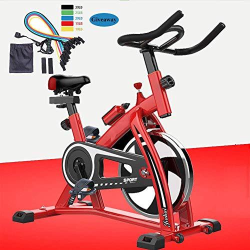 TXYJ Exercise Bike, Indoor Cycling Bike, Silent Belt Drive Cycle Bike with Adjustable Handlebars & Seat, Chromed Flywheel, Fitness Bike and Ab Trainer, Sporting Equipment