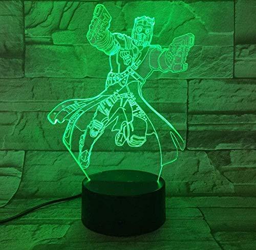 7 Colores de Control Táctil Novedad Anime Figura 3D Led Luz de Escritorio Lámpara de Mesa de Halloween Decoración de Regalo Niño Vacaciones USB 7 Colores Cambio de Lava Lámpara 3D