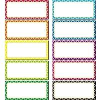 マグネット式ホワイトボードラベル ネームプレートラベル 書き込み可能 柔軟なマグネットネームタグ 粘着ラベルとステッカー ホワイトボード 冷蔵庫 クラフト用 8色 3.5 x 1.5 Inch