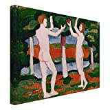 Bilderwelten Cuadro en lienzo - August Macke - Adán y Eva - Apaisado 3:4, cuadros cuadro lienzo cuadro sobre lienzo cuadro moderno cuadro decoracion cuadros decorativos cuadro xxl, Tamaño: 120 x 160cm