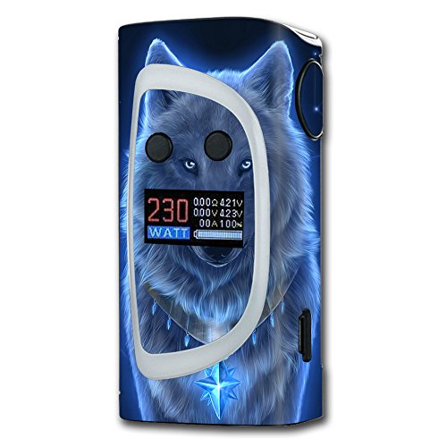 Skin Decal Vinyl Wrap for Sigelei Kaos Spectrum Vape Mod Skins Stickers Cover / Glowing Celestial Wolf