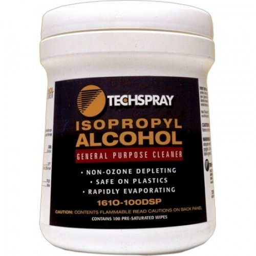TechSpray 100 Wipes Presaturated with 99% IPA - 1610-100DSP