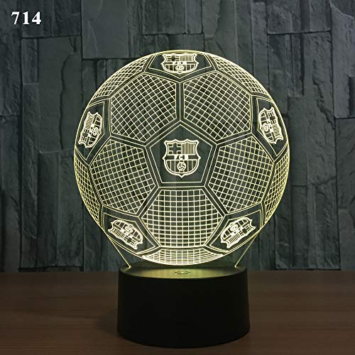 Real Madrid Fußball 3d Nachtlicht kreatives Geschenk Smart Home Tischlampe Ed Induktionslampe