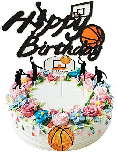 Melodip Decoración para tartas de feliz cumpleaños, decoración de pasteles de acrílico, apta para alimentos, decoración de tartas de cumpleaños,