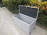groundlevel.co.uk Weatherproof easy move XL garden storage box- Charcoal Grey Lid