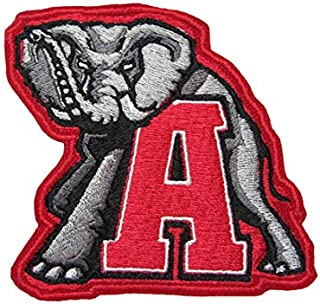 Roll Tide Tusk Alabama Iron On Sew On Embroidered Patch