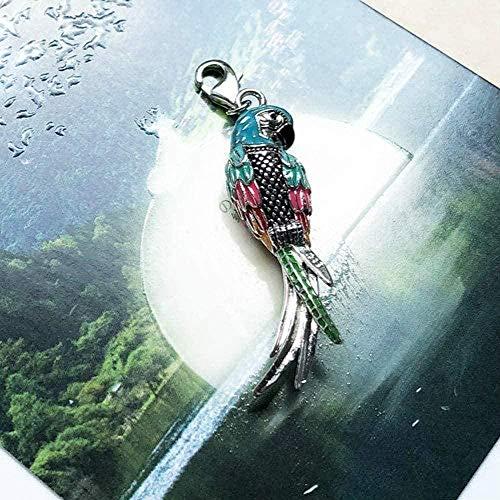 FACAIBA Halskette Paradiesvogel Papagei Anhänger Halskette 2020 Sommermode Schmuck Neu 925 Sterling Silber Böhmisches Geschenk für Frauen Anhänger Halskette Mädchen Jungen Geschenk