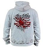 Dirty Ray Artes Marciales MMA Jiu-Jitsu sudadera hombre con capucha BDT2 (L)