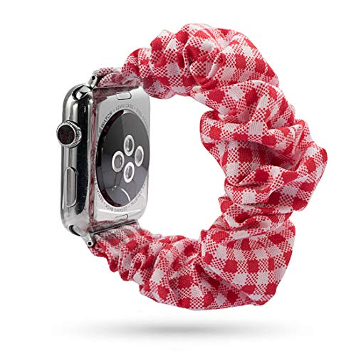 Giftt Pulsera elástica Linda de la muñeca Scrunchie para Apple Watch Band 38 mm / 40 mm, reemplazo Suave y Moderno de Las Pulseras elásticas iWatch Series 5/4/3/2/1 Mujeres Niñas