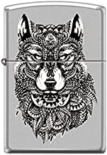 Zippo Custom Lighter Design Ethnic Totem Native American Indian Wolf Windproof Collectible - Cool Cigarette Lighter Case Made in USA Limited Edition & Rare
