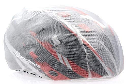 ROCKBROS Helmüberzug Regenüberzug Regenkappe Abdeckung Helm Cover Fahrrad Rennrad, Weiß
