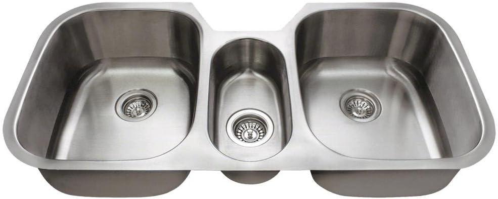 4521 18 Gauge Undermount Triple Bowl Stainless Steel Kitchen Sink Amazon Com