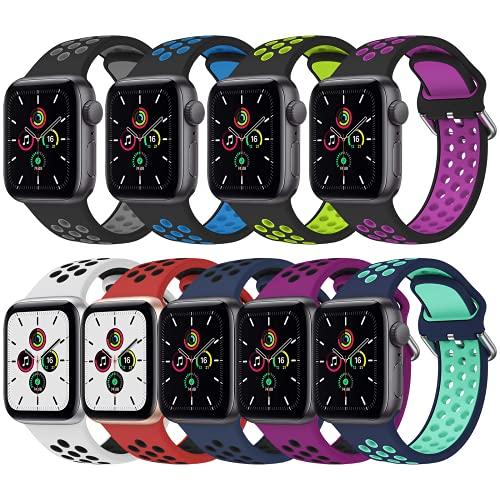 Dumgeo Correa Compatible con Apple Watch Correa 44mm 38mm 40mm 42mm, Elástica Silicona Suave Correa Compatible con Apple Watch Series 6/5/4/3/2/1 SE