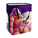 nakw88 Cesta grande para la colada, impermeable, sucio, cubo de almacenamiento plegable con asas, espacio de dibujos animados astronauta