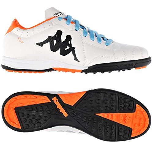 KappaPlayer Tg Base - Scarpe da Calcio Uomo, Arancione (White-Orange Fluo), 44
