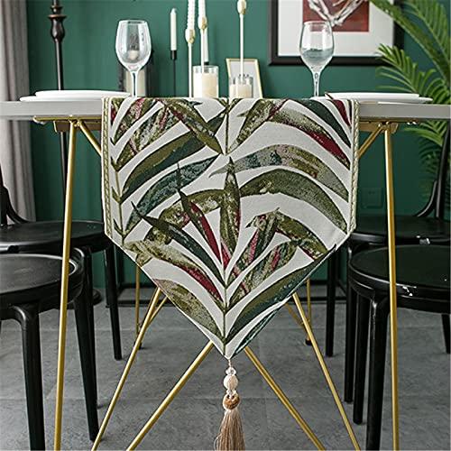 Poliéster Color Engrosado Triángulo Borla Camino De Mesa Mantel para El Hogar Té Mantel Camino De Mesa TV Gabinete Cubierta De Tela 33x160cm