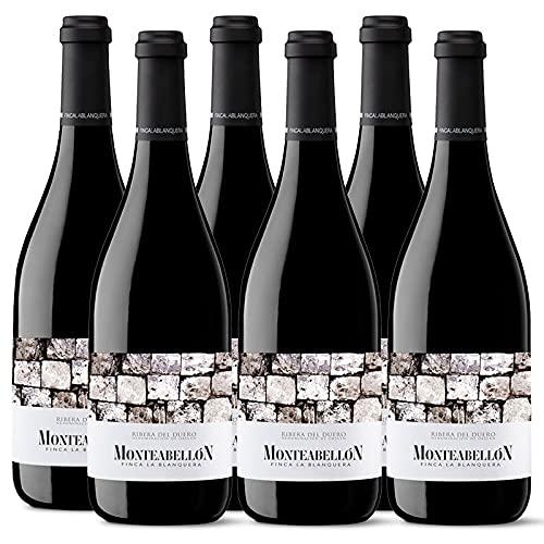 Vino Tinto Finca La Blanquera de 75 cl - D.O. Ribera del Duero - Bodegas Monteabellon (Pack de 6 botellas)