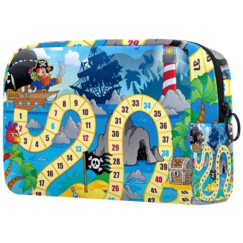 Bolsa de brochas de maquillaje personalizable, portátil, bolsa de aseo para mujer, organizador de viaje, mesa de escritorio, faro pirata
