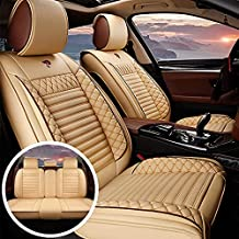 Custom Car Seat Covers Fit For Peugeot 3008 PU Leather Front &Rear Seat Protector with Waterproof Airbag Standard Edition Beige