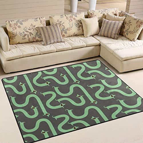MALPLENA Malpela Wiener Hunde-Muster, rutschfeste Unterlage, Fußmatte, Fußmatte, Schuhe, Schaber, Polyester, 1, 63 x 48 inch