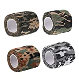 EXCEART 4 Rolls Medical Cohesive Bandages Self Adherent Stretch Athletic Tape Sticky Elastic First Aid Tape Protective Bandage for Sport Daily
