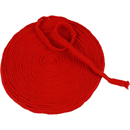 Tubo lavorato a maglia, larghezza 10 mm, rosso natalizio, 100% acrilico, 10 m