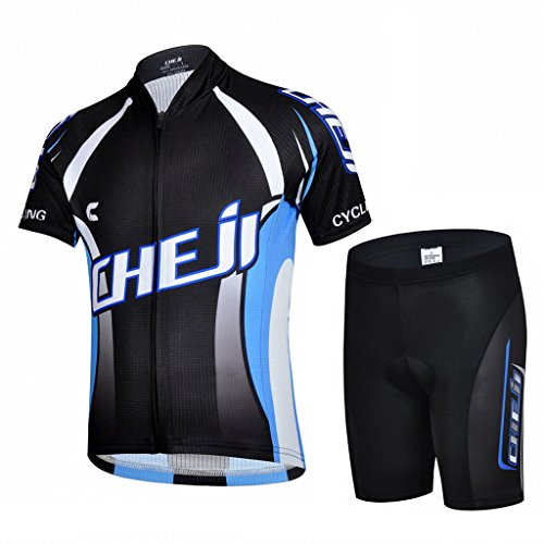 Ateid Children Boys' Girls' Cycling Jersey Set Short Sleeve with 3D Padded Shorts Blade Master 7-9 Years