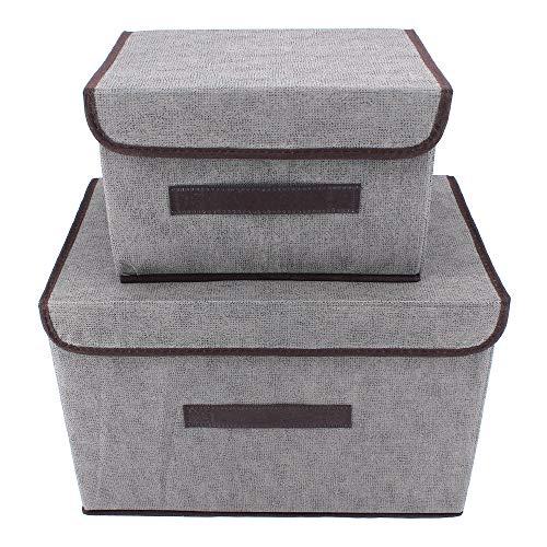 ShawFly Caja de Almacenamiento Paquete de 2 Cajas de con Tapas Caja...