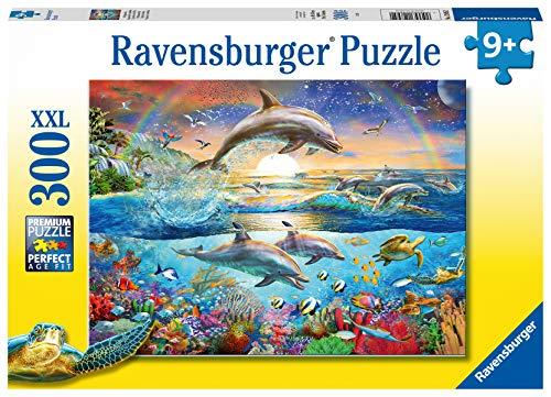 Ravensburger Kinderpuzzle - 12895 Delfinparadies - Unterwasserwelt-Puzzle für Kinder ab 9 Jahren, mit 300 Teilen im XXL-Format