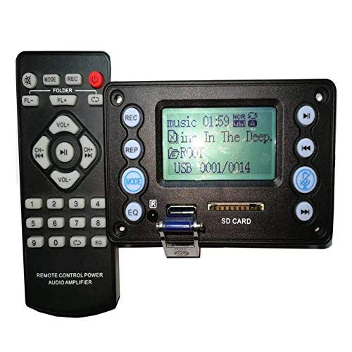 LZP-PP Full Function BluetoothCan Adjust Output Volume Amplifier Board 4.2 DC5V Battery 12V Two Channel Audio Decoder Board Recording Radio Lyrics Display APE FLAC WMA WAV MP3 Spot Steuermodul