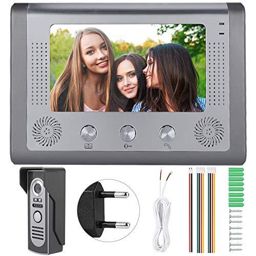 Videoportero, Videoportero con cámara de visión nocturna con cable(European standard (110-240V), 12)