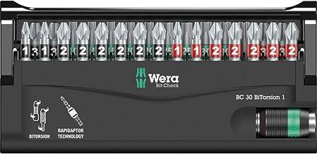Wera Bitorsion 1 Bit-Check 30 Piece - 5057430001