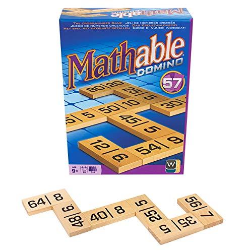 Family Games, Art. Mathable Domino - Gioco da Tavolo Matematico in Legno - Domino con Numeri