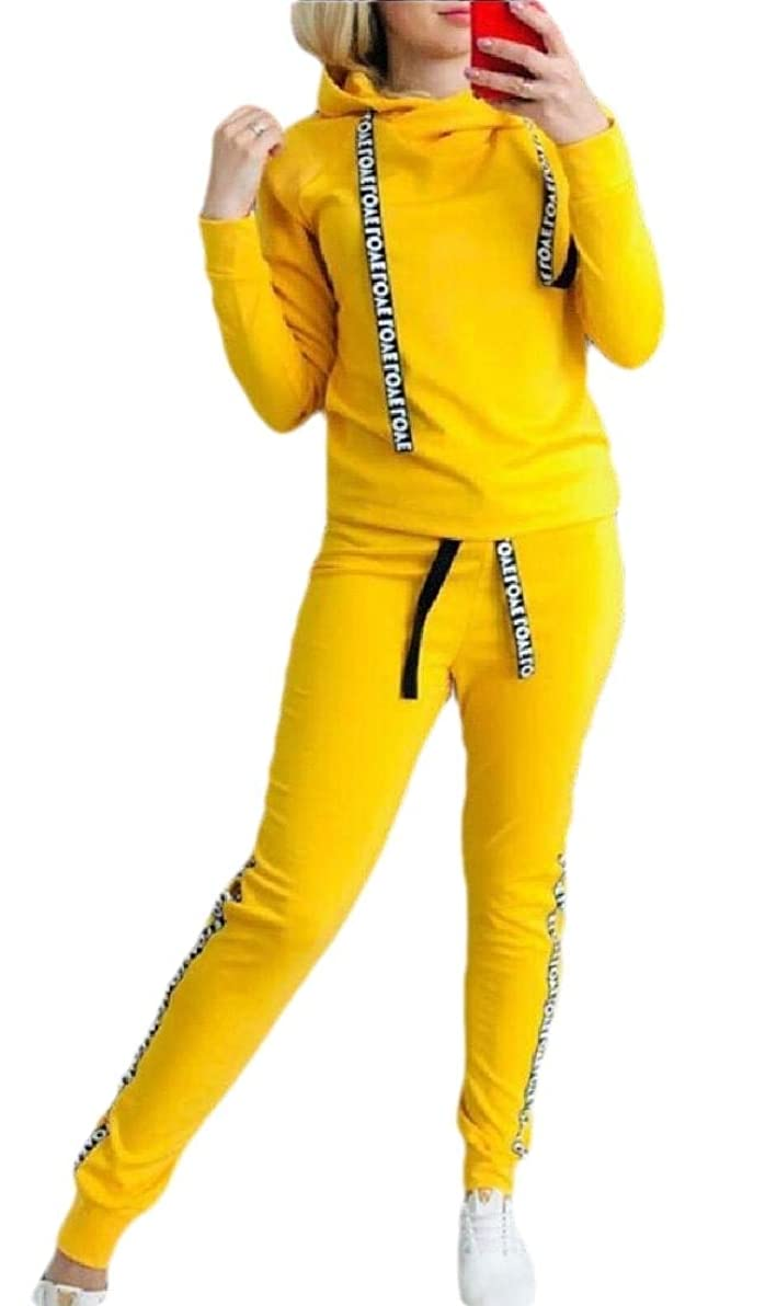 ハリケーン願望アストロラーベWomen Jogger Sweat Suits Long Sleeve Hooded Sweatshirt and Sweatpants 2 Piece Sports Sets Outfit