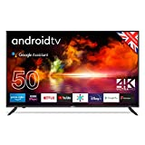 """Cello ZK4-G0205 50"""" 4K Ultra HD Smart Android TV with Freeview Play, Google Assistant, Google Chromecast, 3 x HDMI and 2 x USB Made in the UK (2021 model)"""