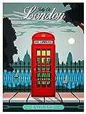 HONGXIN Cartel de metal de advertencia de Londres Inglaterra, cartel decorativo para bar, cafetería, hotel, oficina, dormitorio, jardín
