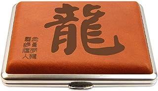 LONGWDS Caja de cigarro Caso de cigarrillos, caja de cigarrillo automática, ultra-delgado de cigarrillos caso 16-Pack, Hom...