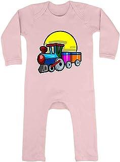 HARIZ HARIZ Baby Strampler Zug Auto Polizei Plus Geschenkkarte Zuckerwatte Rosa 6-12 Monate