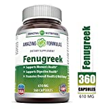 Amazing Formulas Fenugreek Seed Supplement - 610mg Capsules Made With Pure Seed Extract - All Natural Supplements To Support Womens Health (360 count)