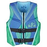 Full Throttle Youth Rapid Dry Flex-Back Life Jacket, Green