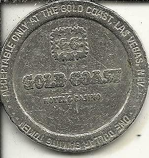 $1 gold coast 1987 casino token coin las vegas nevada obsolete