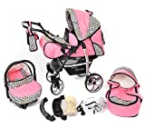 Sportive X2, 3-in-1 Travel System incl. Baby Pram with Swivel Wheels, Car Seat, Pushchair &...