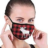Unisex Anti-Umweltverschmutzung, Staubtuch, atmungsaktiv, waschbar und wiederverwendbar, rotes Büffel-Muster